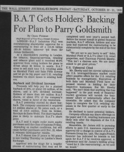 BAT_gets_holders_backing_for_plan_to_parry_goldsmith 20_10_1989