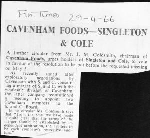 Cavenham_Foods_Singleton_Cole_ 29_04_1966