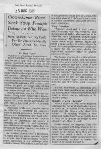 Crown-James_river_stock_swap_promps_debate_on_who_won 24_12_1985