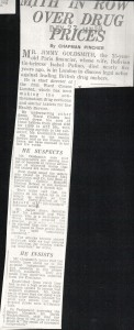 Goldsmith in row over drug prices 27_01_1959