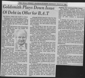 Goldsmith_plays_down_issue_of_debt_in_bid_for_BAT 31_07_1989