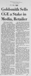 Goldsmith_sells_GCE_stake 28_07_1987