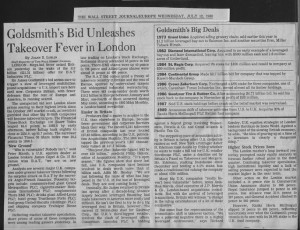 Goldsmith's_bid_unleashes_takeover_fever_in_london 12_07_1989