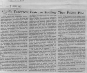 Hostile_takeoves_easier_to_swallow_than_poison_pills 31_05_1985