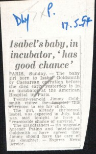Isabel's_baby_in_incubator_has_good_chance 17_5_1954