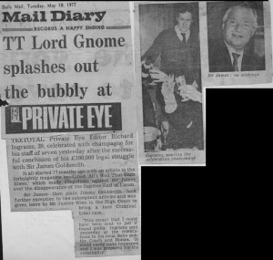 TT_lord_gnome_splashes_out_the_bubbly_at_private_eye 10_05_1977